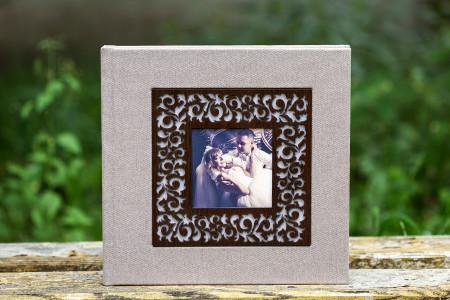 весільна фотокнига.обкладинка з деревяною фотовставкою #4