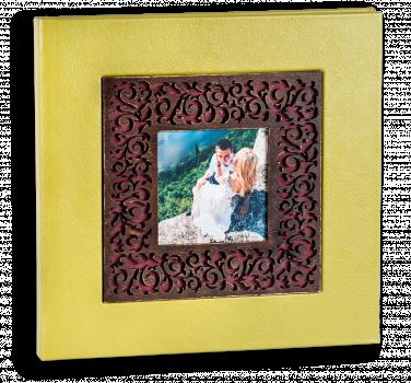 Весільна фотокнига ,обкладинка  дерево з фотовставкою #5