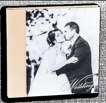 весільна фотокнига з фотодруком на холсті #1